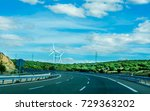 fast road in the mountains in... | Shutterstock . vector #729363202