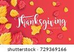 hand drawn thanksgiving...   Shutterstock .eps vector #729369166