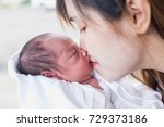mother and baby | Shutterstock . vector #729373186