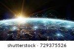 data exchange and global... | Shutterstock . vector #729375526