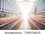 a workshop in a textile mill | Shutterstock . vector #729376015