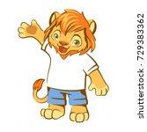 funny welcoming cartoon... | Shutterstock .eps vector #729383362