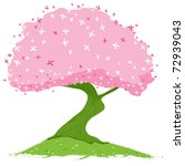 spring pink and green blooming... | Shutterstock .eps vector #72939043