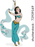oriental belly dancer holding... | Shutterstock .eps vector #72939169