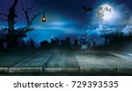 spooky halloween background... | Shutterstock . vector #729393535