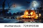 Spooky Halloween Pumpkin On...
