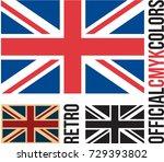 uk flag  british flag | Shutterstock .eps vector #729393802