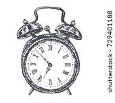 retro alarm clock illustration  ... | Shutterstock .eps vector #729401188