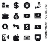 16 vector icon set   coin stack ... | Shutterstock .eps vector #729403642