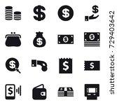 16 vector icon set   coin stack ... | Shutterstock .eps vector #729403642