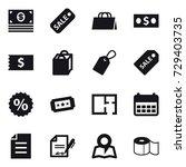 16 vector icon set   money ... | Shutterstock .eps vector #729403735