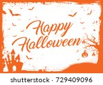 the horizontal halloween... | Shutterstock .eps vector #729409096