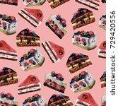 watercolor seamless pattern... | Shutterstock . vector #729420556