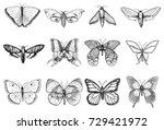 tattoo or boho t shirt or... | Shutterstock .eps vector #729421972
