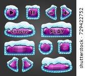 winter cartoon purple buttons...