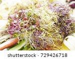 bean sprout salad  | Shutterstock . vector #729426718