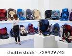 buyer in the store of children... | Shutterstock . vector #729429742