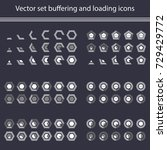 vector set of loading and... | Shutterstock .eps vector #729429772