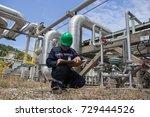 male worker inspection visual... | Shutterstock . vector #729444526