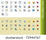 text editor icons | Shutterstock .eps vector #72944767