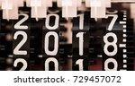 mechanical counter numbers... | Shutterstock . vector #729457072