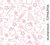 cute seamless pattern with... | Shutterstock .eps vector #729463936