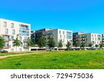 park at complex of new ... | Shutterstock . vector #729475036