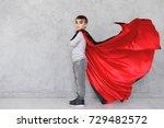boy profile portrait wearing... | Shutterstock . vector #729482572