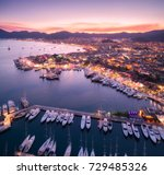 aerial view of boats and... | Shutterstock . vector #729485326