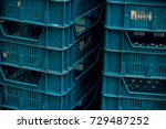 stack of crates for groceries... | Shutterstock . vector #729487252