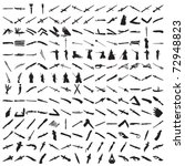 set of hundreds knifes and...   Shutterstock .eps vector #72948823