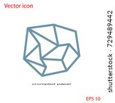 vector icon of crumpled paper   Shutterstock .eps vector #729489442