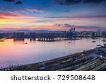 sunset in the city | Shutterstock . vector #729508648
