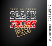 black friday sale background ... | Shutterstock . vector #729515542