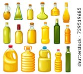 set of bottles with vegetable... | Shutterstock .eps vector #729519685