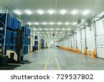 warehouse freezer  | Shutterstock . vector #729537802
