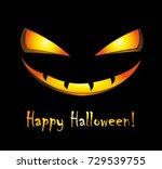 happy halloween  | Shutterstock .eps vector #729539755