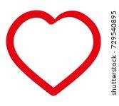 heart icon. love symbol.... | Shutterstock .eps vector #729540895