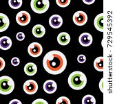 vector seamless pattern with... | Shutterstock .eps vector #729545392
