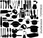 kitchen tools collection  ... | Shutterstock .eps vector #72955810