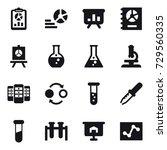 16 vector icon set   report ... | Shutterstock .eps vector #729560335