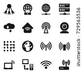 16 vector icon set   share ... | Shutterstock .eps vector #729563536