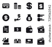 16 vector icon set   card  coin ... | Shutterstock .eps vector #729563542
