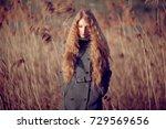 outdoor atmospheric lifestyle... | Shutterstock . vector #729569656