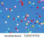 multicolored balloons filled... | Shutterstock . vector #729574792
