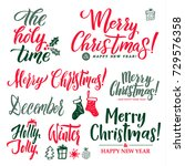 merry christmas and happy new... | Shutterstock .eps vector #729576358
