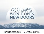 inspiration quote on blurred... | Shutterstock . vector #729581848