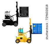 crane lifting up container.... | Shutterstock .eps vector #729602818