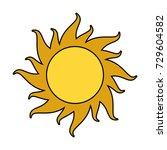 sun cartoon icon image  | Shutterstock .eps vector #729604582