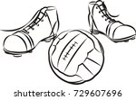 vintage soccer or football... | Shutterstock .eps vector #729607696